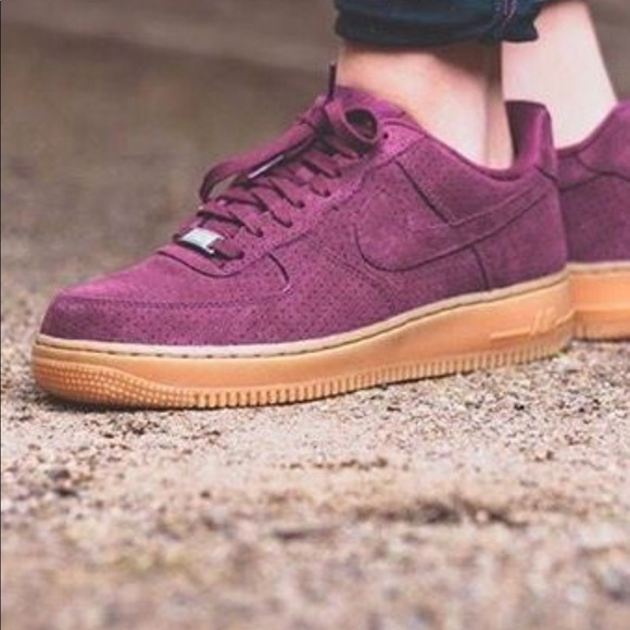 4730bf3352 Nike Shoes | Air Force One Low In Burgundy Womens | Poshmark